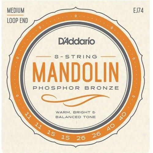 D'Addario D'addario Mandolin EJ74 Medium Phosphor Bronze 11-40