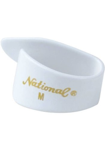 National National Thumb Pick White Medium