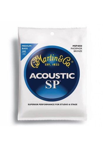 Martin MSP4850 SP Phosphor Bronze Acoustic Bass Strings, Medium .045-.105