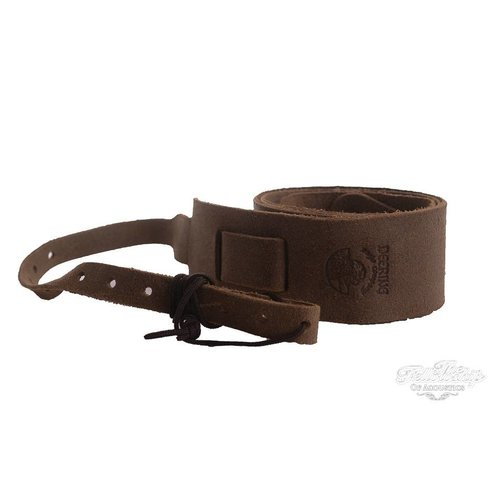 Deering Deering Banjo Soft Leather Cradle Strap Sueded Caramel Brown