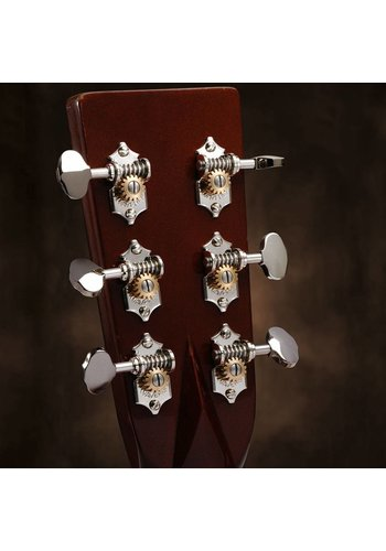 Waverly Waverly Guitar Tuners 4060 with Butterbean Knobs, for Solid Pegheads Nickel