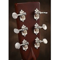 Waverly Guitar Tuners 1129 with Vintage Oval Knobs, for Solid Pegheads Nickel