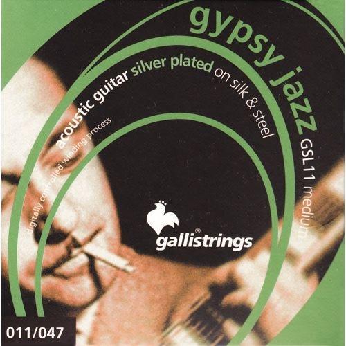 Gallistrings Gallistring Gypsy Jazz GSL 11 Silver plated on Silk & Steel