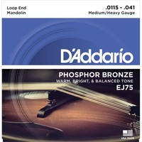 D'Addario EJ75 Mandolin Phosphor Bronze Light 11.5-41