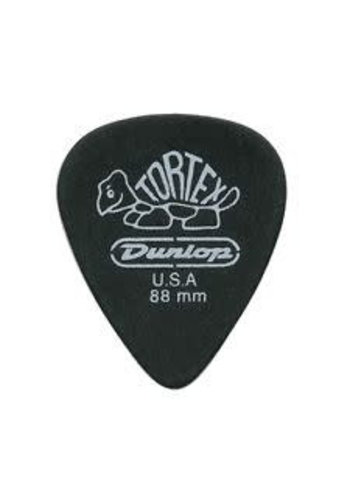 Dunlop Dunlop Tortex Pitch Black .88mm 488P.88 12 Pack
