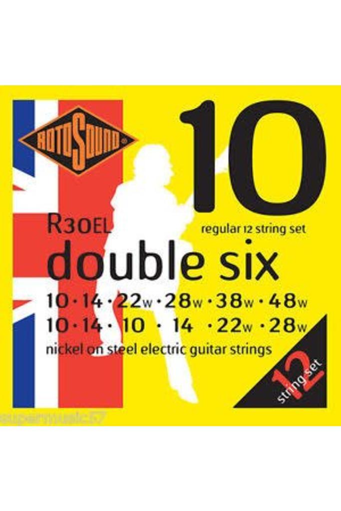 Rotosound R30EL Double Six elektrische gitaarsnaren .010-.048w