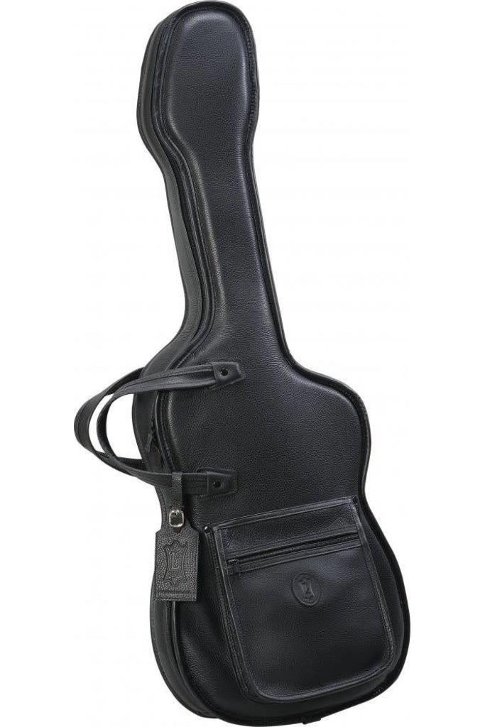 Levy's BL18FS Leather Gig Bag for Strat Shaped Electric Guitar - Black