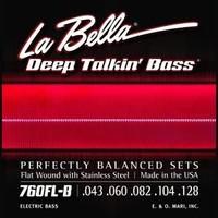 La Bella 760FL-B Flatwound 5 Deep Talkin' Bass Light