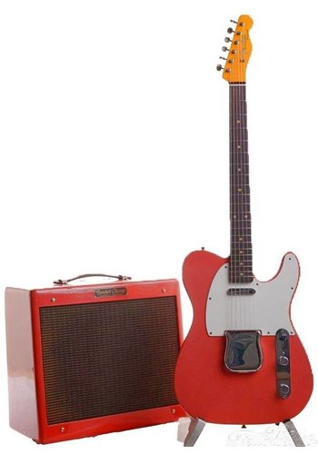 Fender Fender Custom Shop Limited 1959 Telecaster Journeyman relic set 1959 Champ Amp faded fiesta red