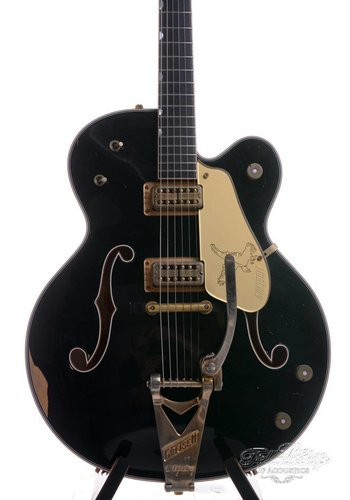 Gretsch Gretsch Masterbuilt G6136-CS 59 Black Falcon Custom Shop Heavy Relic Stephen Stern 2016
