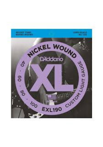 D'addario Daddario XL Nickel Round Wound EXL190 40 - 100 Bass Strings