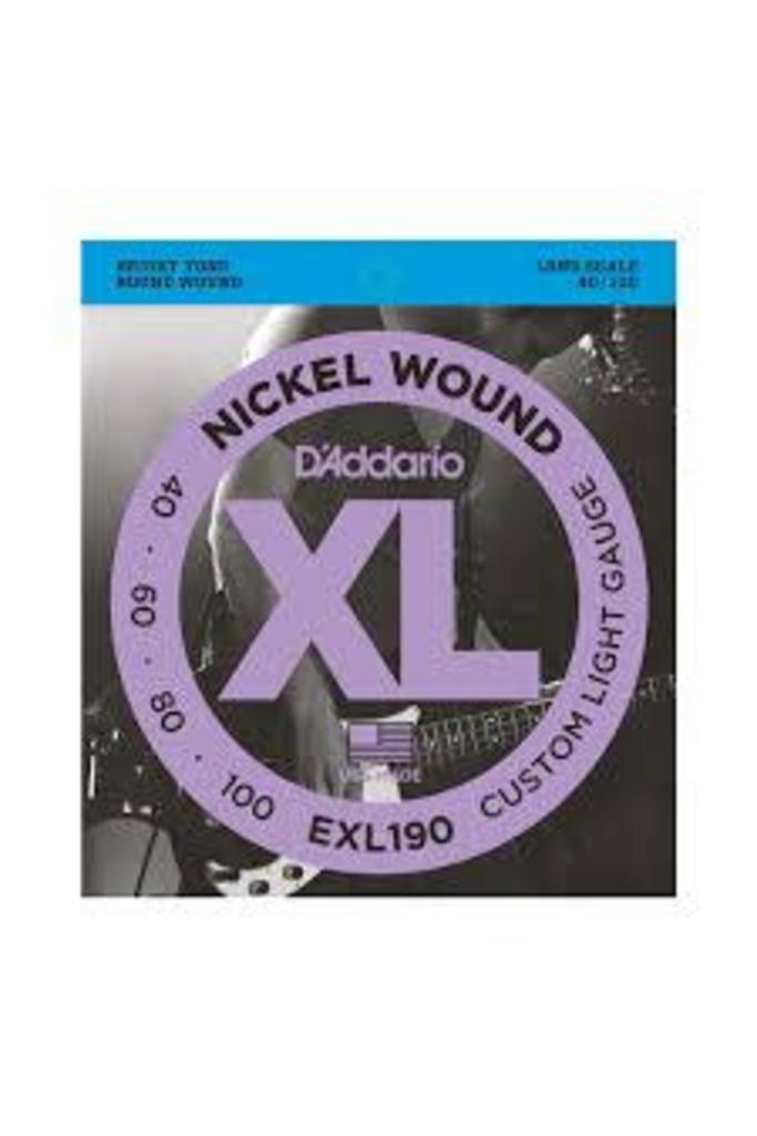 Daddario XL Nickel Round Wound EXL190 40 - 100 Bass Strings