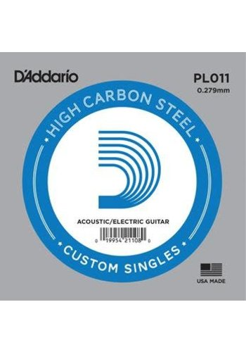 D'addario D'addario Single Plain Steel Size 11