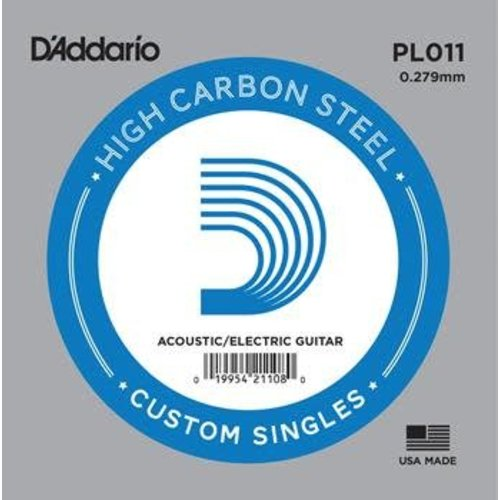 D'addario D'addario Single Plain Steel Size 11