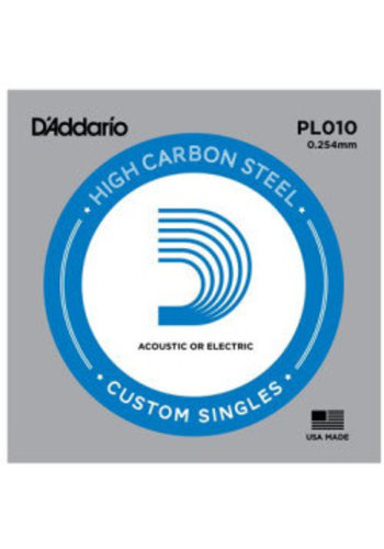 D'addario D'addario Single Plain Steel Size 10