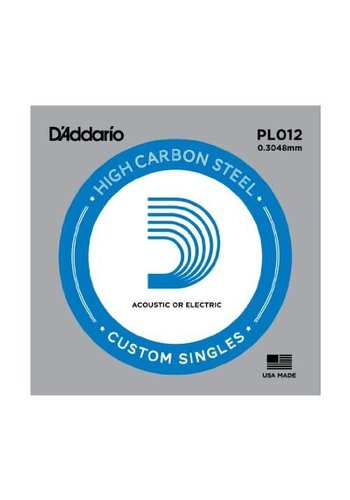 D'addario D'addario Single Plain Steel Size 12