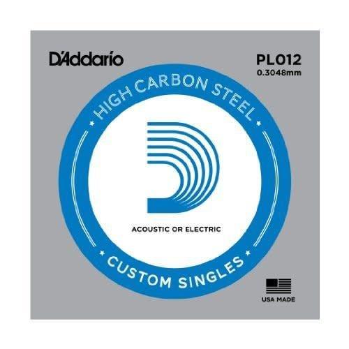 D'addario D'addario Single Plain Steel Size 12