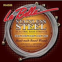LaBella M45B Stainless Steel Round Wound Bass Strings, 5-String Light 45-128