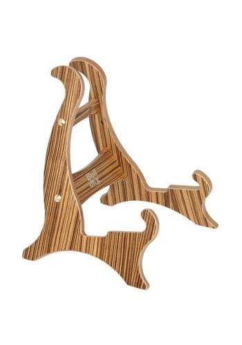 Bulldog Bulldog Zebra wood Zebrano Wooden guitar stand