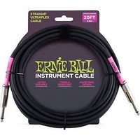 Ernie Ball Instrument Cable Black Straight-Straight 6.09m