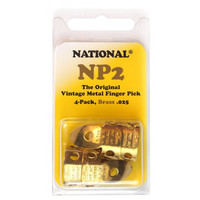 National Metal Finger Pick NP2B Brass  - 4Pack