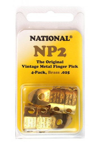 National National Metal Finger Pick NP2B Brass  - 4Pack