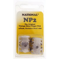 National Metal Finger Pick NP2S Stainless Steel - 4Pack
