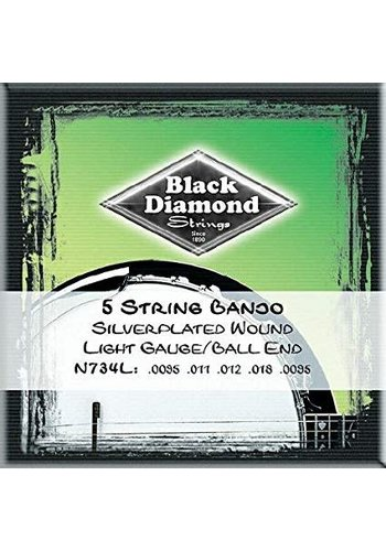 Black Diamond Strings Black Diamond Strings N734L Banjo Ball End Light