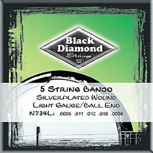 Black Diamond Strings Black Diamond Strings N734L Banjo Ball End Light