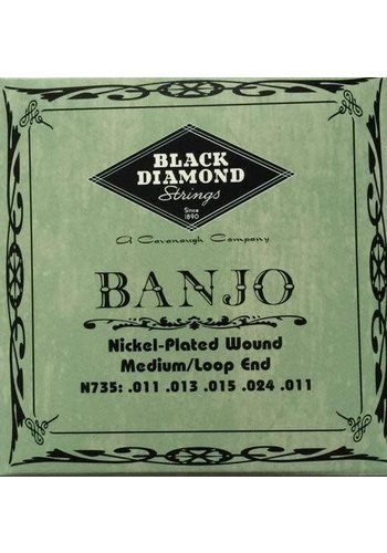 Black Diamond Strings Black Diamond Strings N735 Banjo Medium