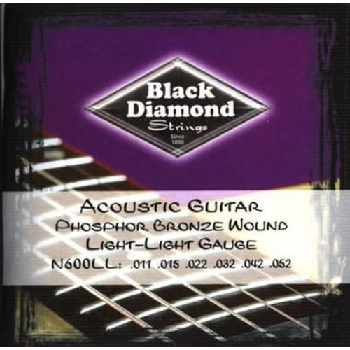 Black Diamond Strings Black Diamond Strings N600LL .011-.052 Light Acoustic