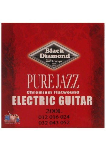 Black Diamond Strings Black Diamond Strings N200L Chromium Flatwound .012-.052