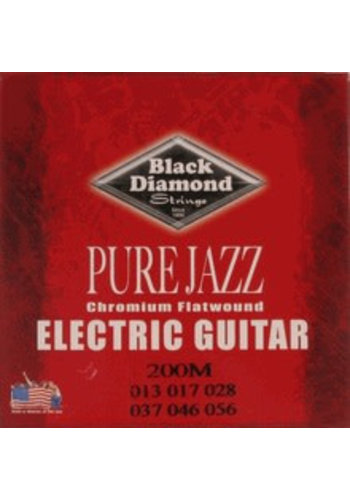 Black Diamond Strings Black Diamond Strings N200M Chromium Flatwound Medium