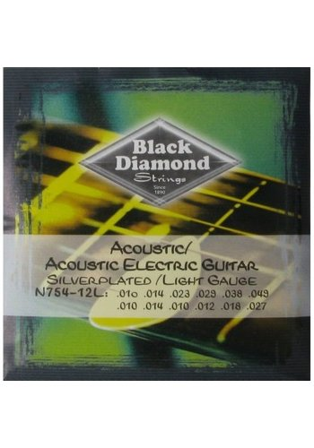 Black Diamond Strings Black Diamond Strings N754-12L 12-Strings Acoustic