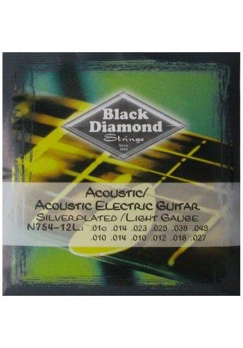 Black Diamond Strings Black Diamond Strings N754-12L 12-Strings Acoustic