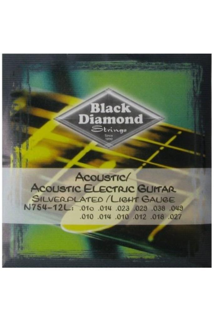 Black Diamond Strings N754-12L 12-Strings Acoustic