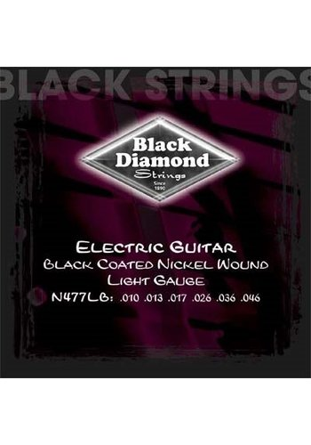 Black Diamond Strings Black Diamond Strings N477LB Black Coated Electric .010-.046