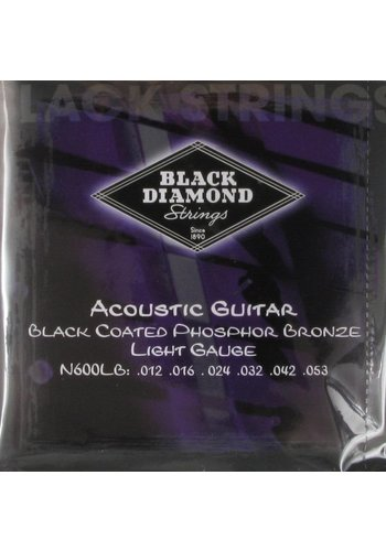 Black Diamond Strings Black Diamond Strings N600LB Black Coated Acoustics .012 -.053