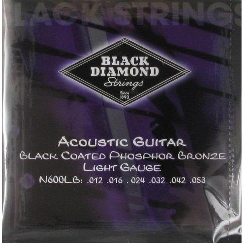 Black Diamond Strings Black Diamond Strings N600LB Black Coated Acoustics .012 -.053