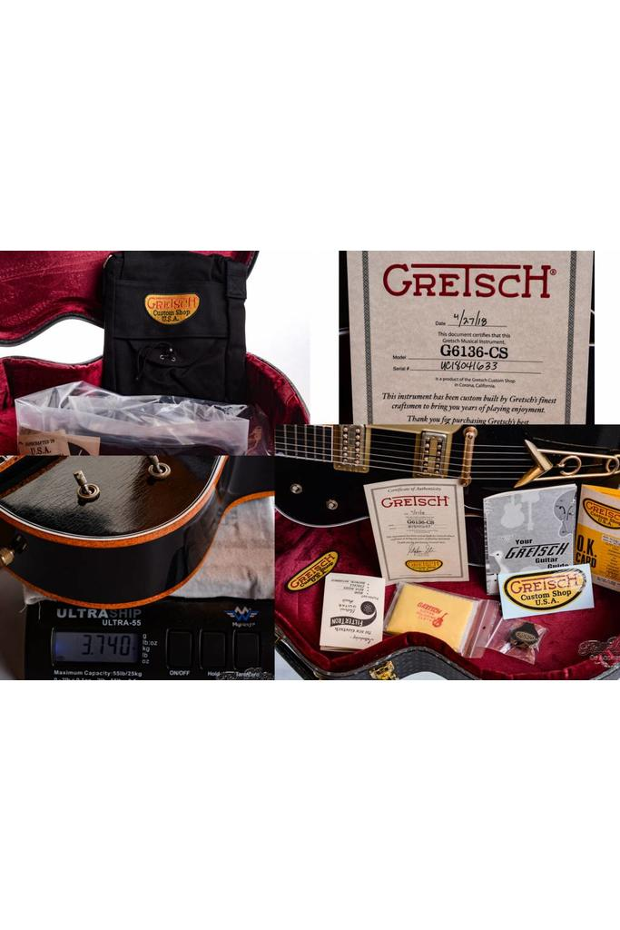 Gretsch Masterbuilt G6136CS 59 Black Falcon Custom Shop Relic Stephen Stern