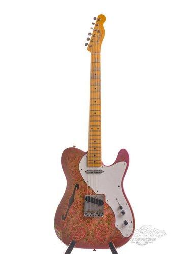 Fender Custom Fender Custom Shop 2017 LTD Relic 50s Thinline Telecaster Pink Paisley