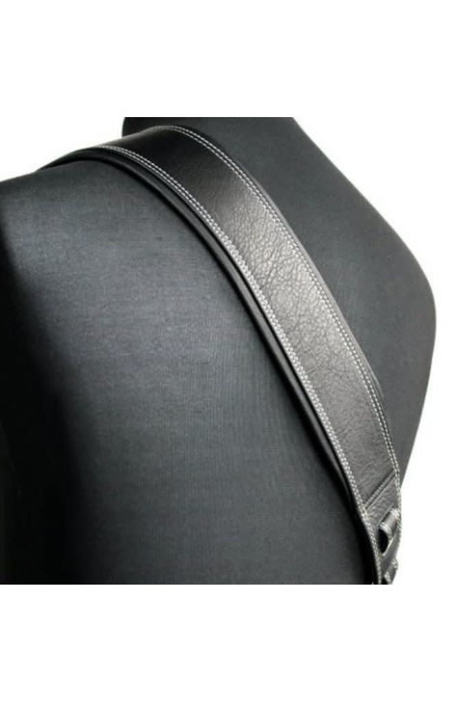 Richter Leather Springbreak I Black/White sew guitar strap 1007