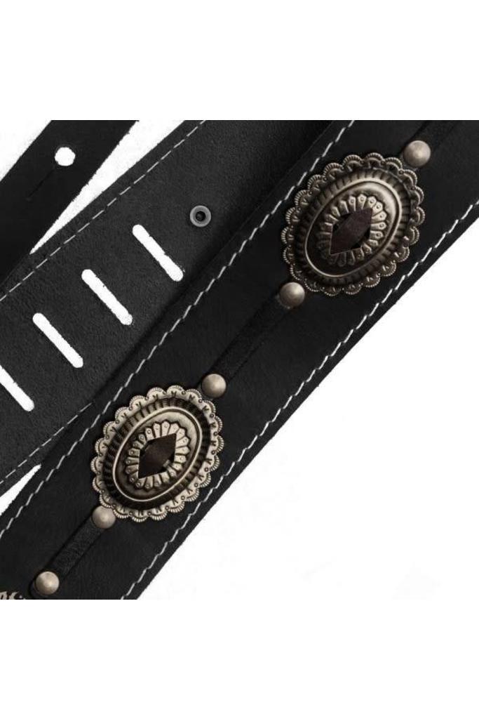 Richter 1565 Motorhead guitar strap leather Black