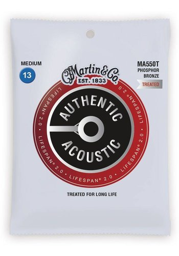 Martin Strings Martin Authentic Acoustic Strings Lifespan Medium 0.13-0.56 MA550T