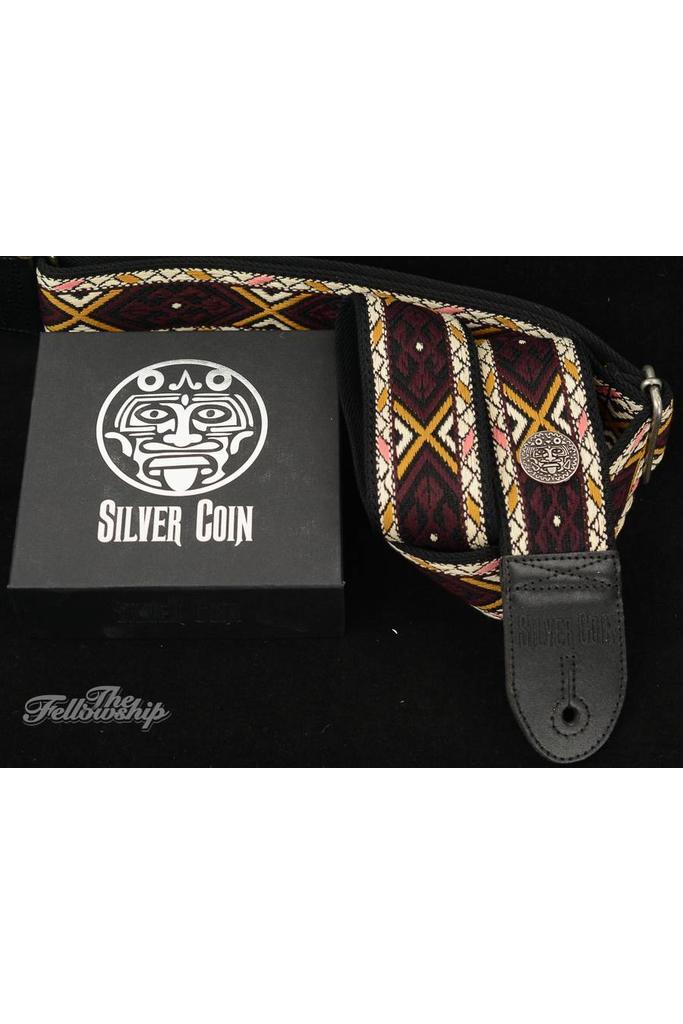 Silver Coin Mama Cocha Guitar Strap
