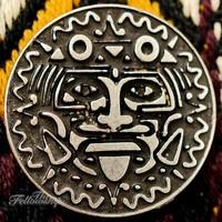 Silver Coin Atlaua Guitar Strap