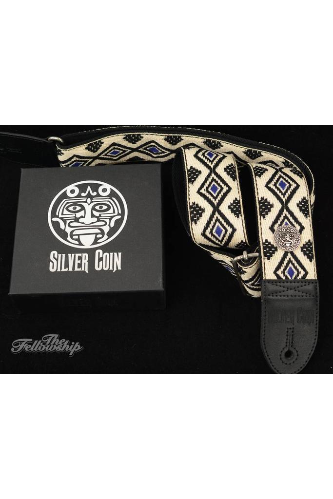 Silver Coin Oxomoco Guitar Strap