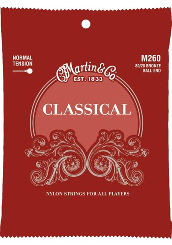 Martin Strings Martin M260 80/20 Bronze Ball End Classical Normal Tension