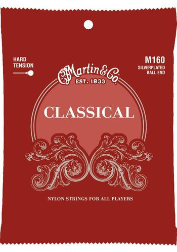 Martin Strings Martin M160 Classical Silverplated Ball End Hard Tension