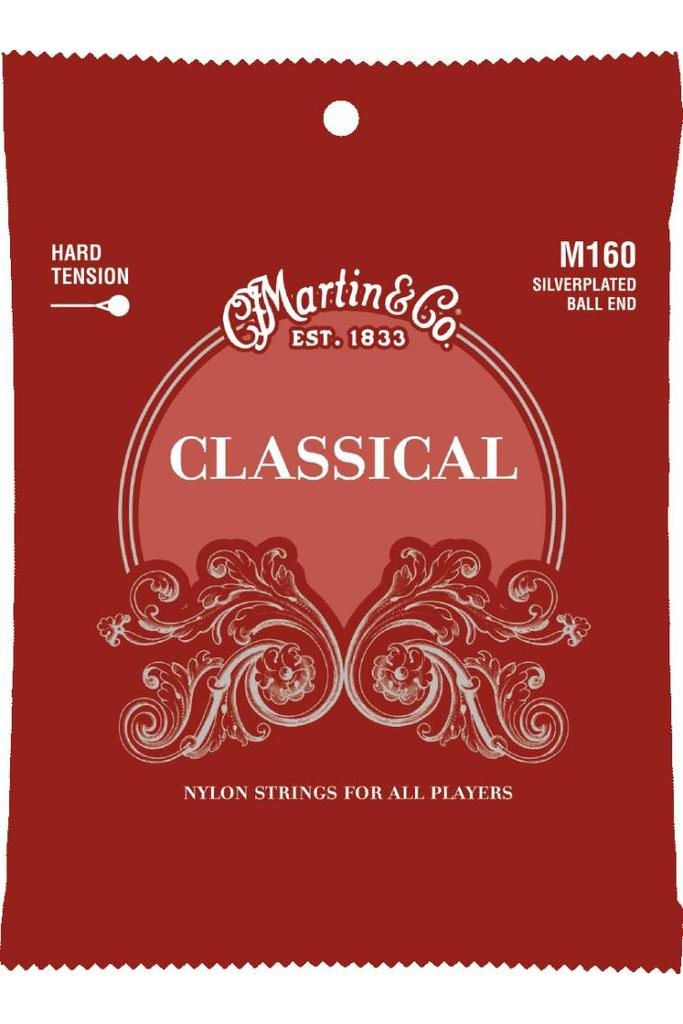 Martin M160 Classical Silverplated Ball End Hard Tension